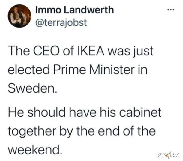 Poskłada swój gabinet w ciągu tygodnia.