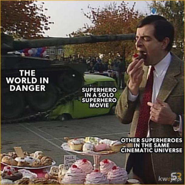 Filmy superbohaterskie o jednym bohaterze.