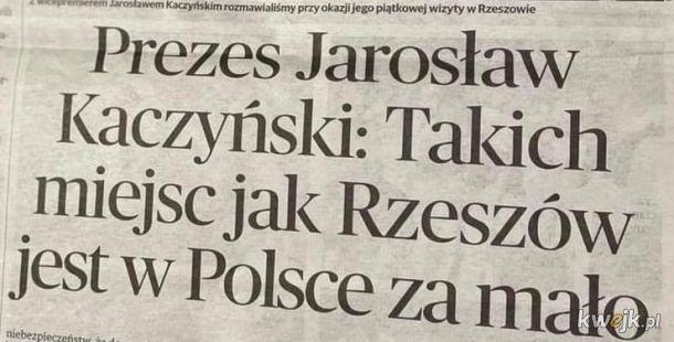 Pan Jarosław jak zawsze z RIGCZem
