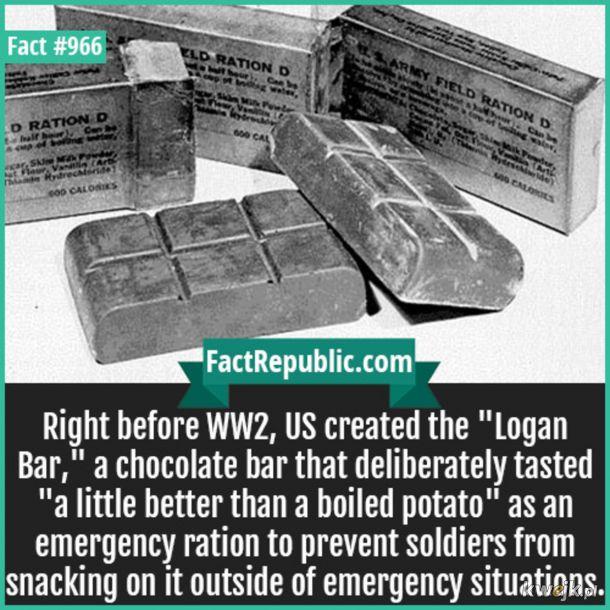 Baton Logana - taka czekolada ale o smaku ziemniaka.