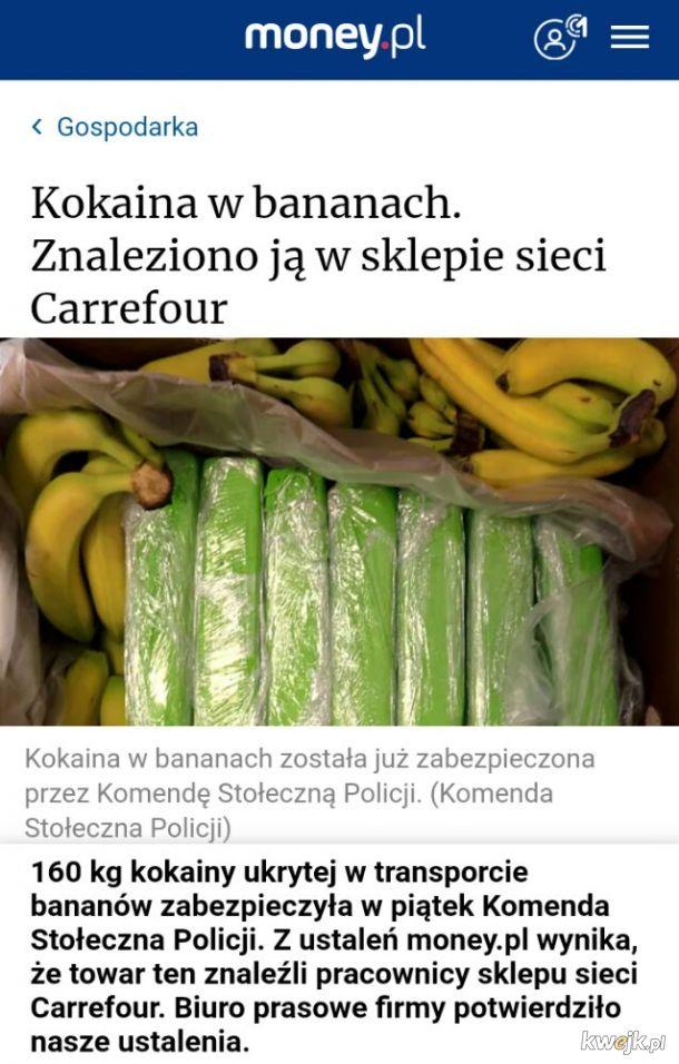 Świeżą partię koki do Carrefour rzucili!
