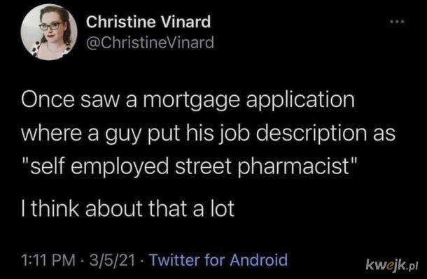 Uliczny farmaceuta na samozatrudnieniu.