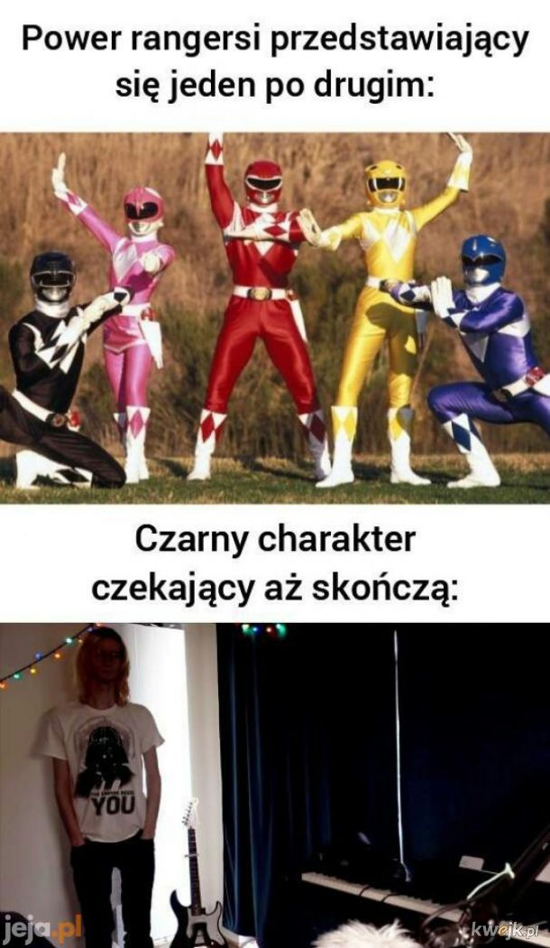 Blue rangers : blue power. Red rengers : red power. White rangers : white power