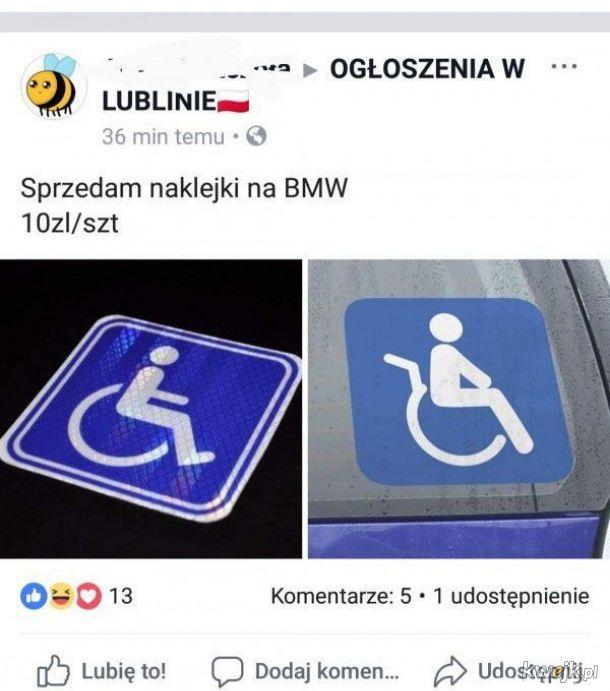 Naklejka na BMW