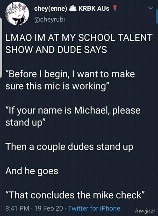 Mike check!