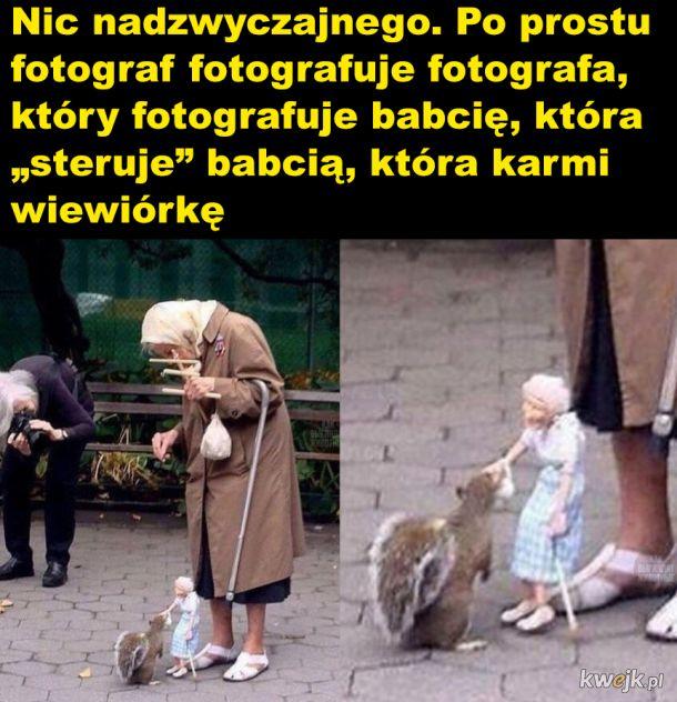 Babcia i wiewiórka