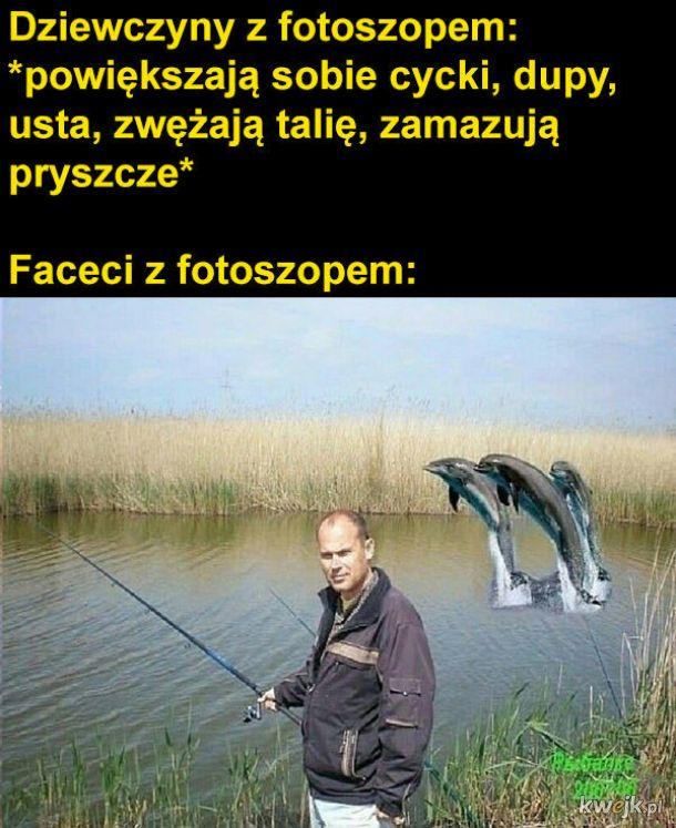 Faceci z photoshopem