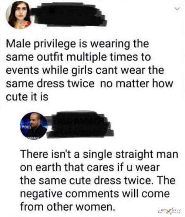 """""""Męskie"""" przywileje?"""