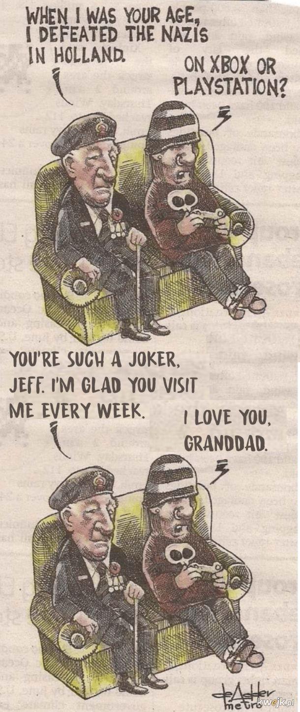 Śmieszek z tego Jeffa.