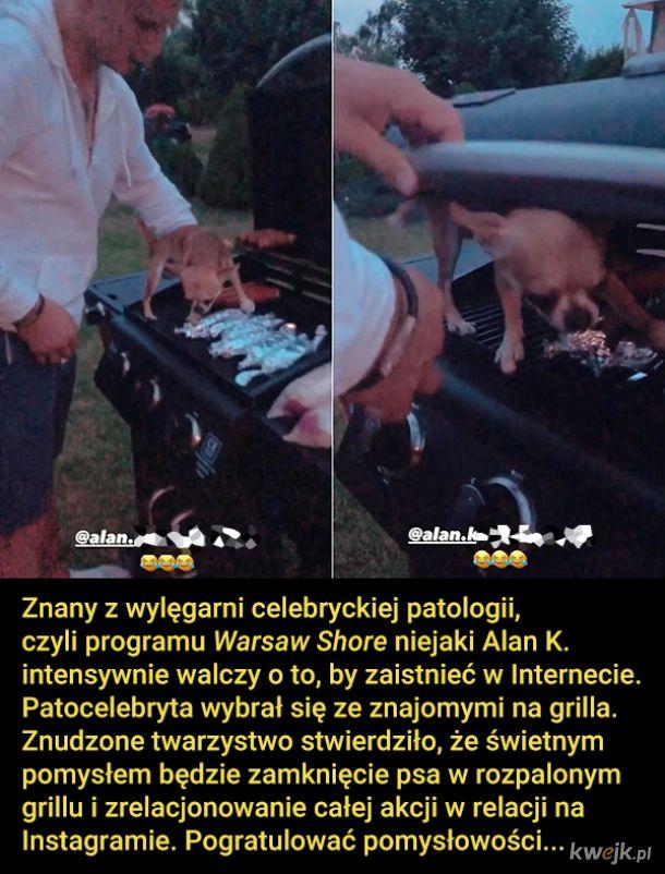 Patocelebryta zamknął psa w grillu, bo to jego zdaniem strasznie śmieszne