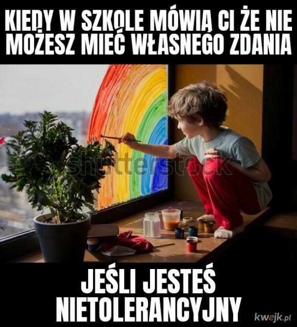 okno na świat zamalowane barwami tolerancji