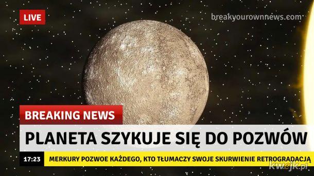 Nie zwalajcie tego na Merkurego!
