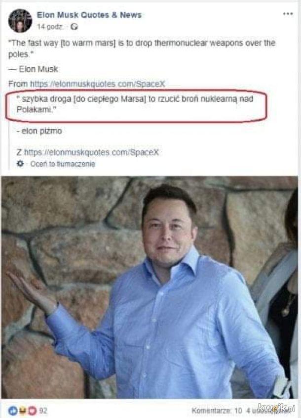 Elon Piżmo antypolak