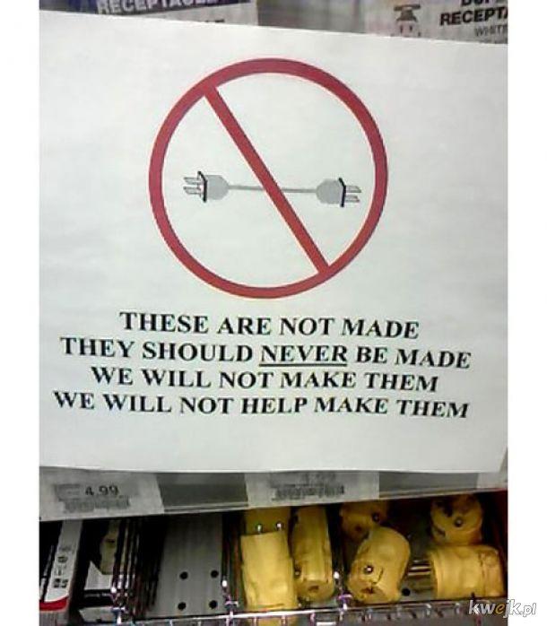 Nie robimy takich. Nie zrobimy takich. Nie powinny istnieć.