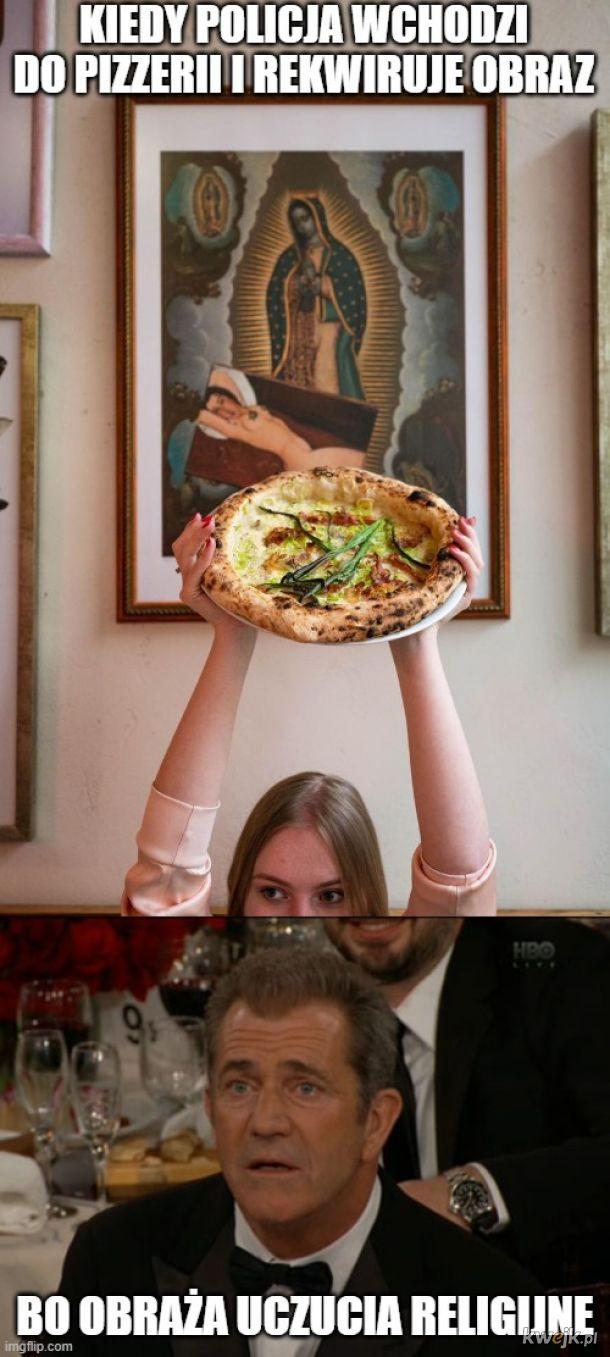 Obraza uczuć religijnych w pizzerii