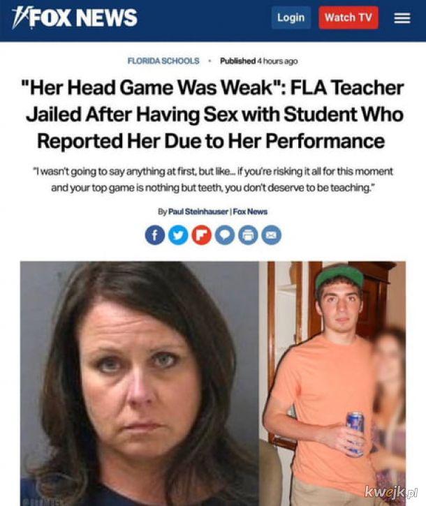 Była słaba to cyk na policję.