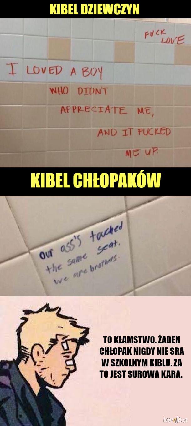 To się nie dzieje w szkolnej toalecie