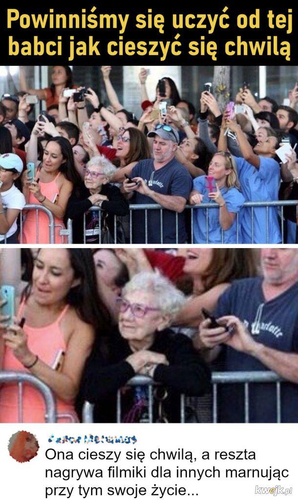 Powinniśmy się uczyć od tej babci jak cieszyć się chwilą
