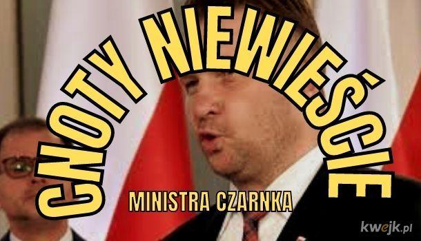 Cnoty niewieście Ministra Czarnka