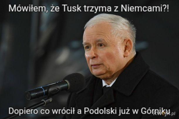 Tusk ściąga Podolskiego