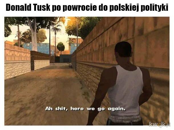 Donald Tusk po powrocie do polskiej polityki