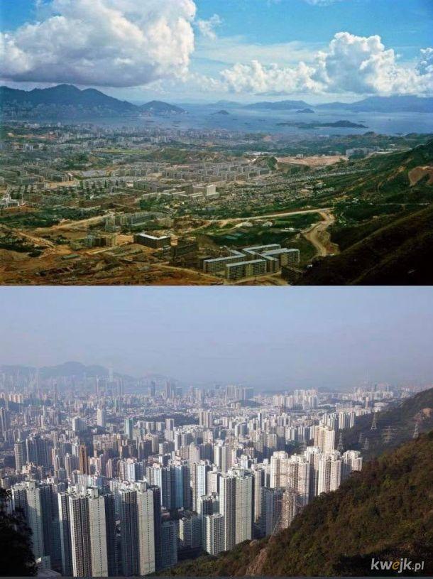 Hong Kong w 1964 i współcześnie