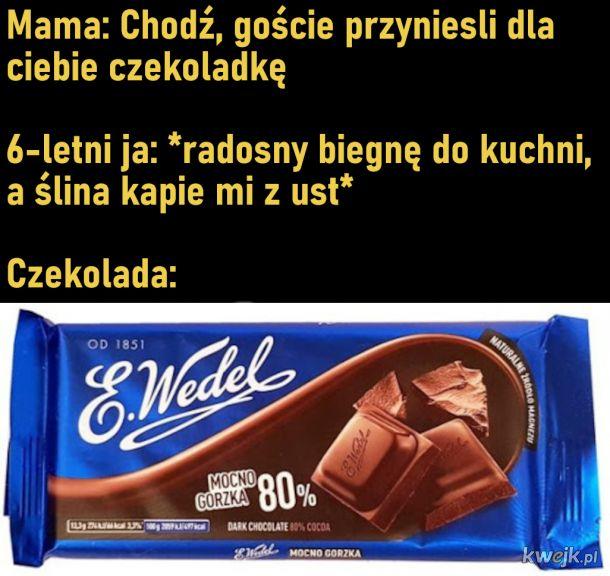 Synciu, goście przynieśli czekoladkę dla Ciebie