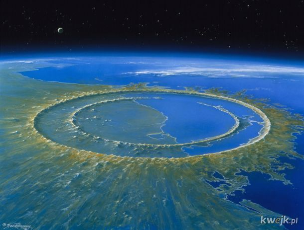 Krater po uderzeniu asteroidy 66 mln lat temu