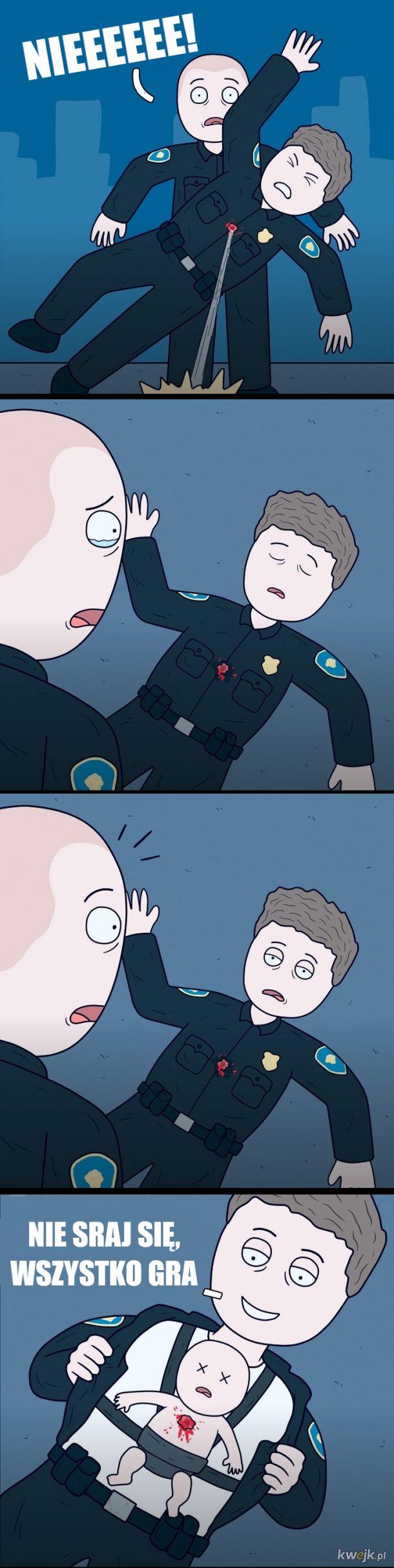 Dzielni policjanci