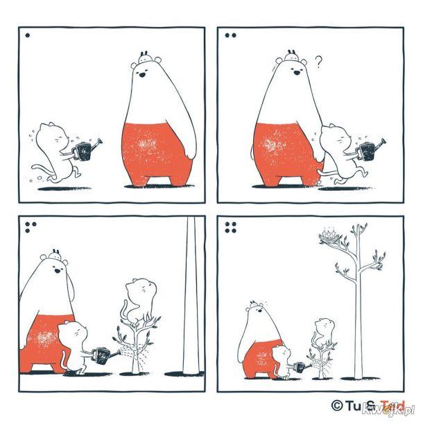 Komiksy Tu and Ted, w których nie potrzeba słów