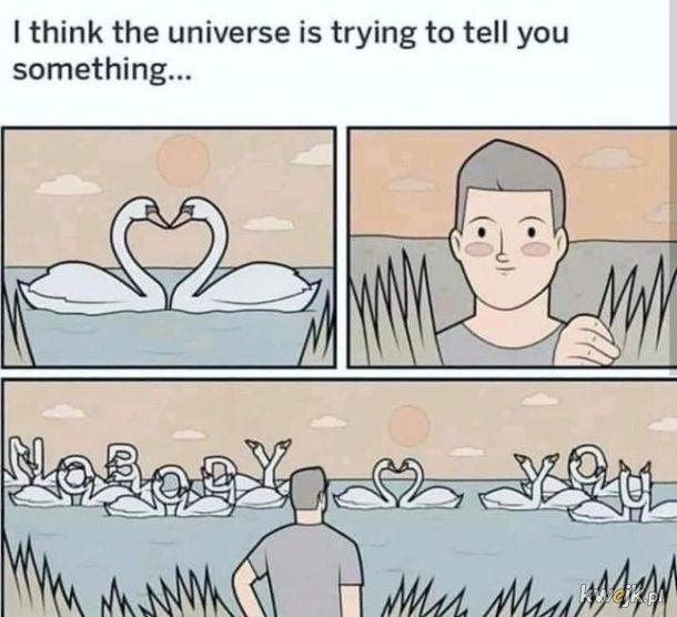 Wszechświat próbuje coś powiedzieć...