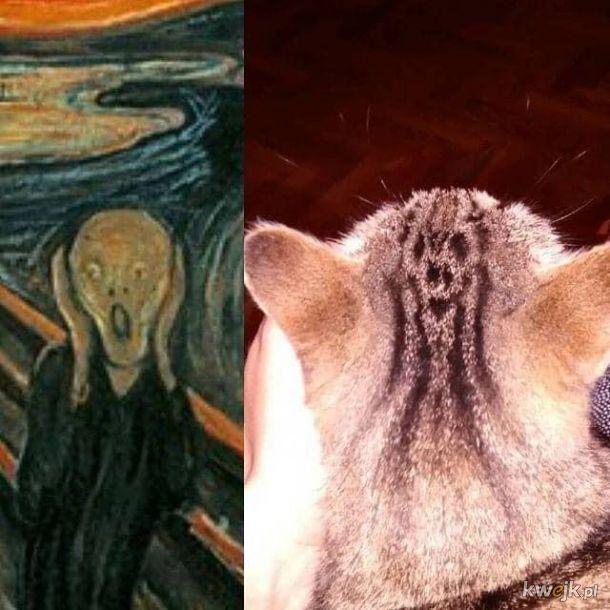 Kot Munchem malowany