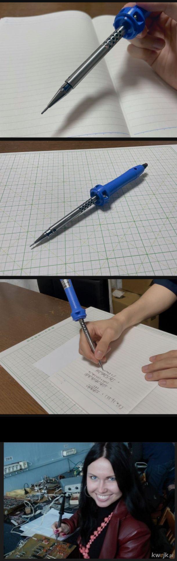 Ołówek. Na dole klasyk,