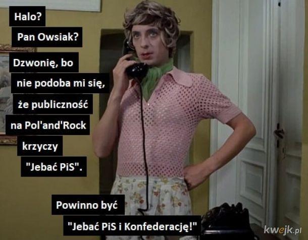 Telefon z prośbą do Owsiaka