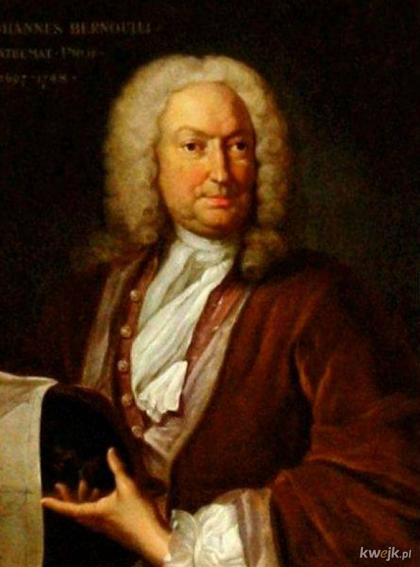 Dziś mamy 354. rocznicę urodzin Johanna Bernoullego