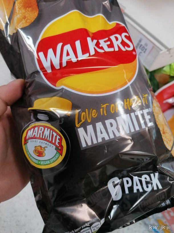 Anglia w formie, chipsy drożdżowe.