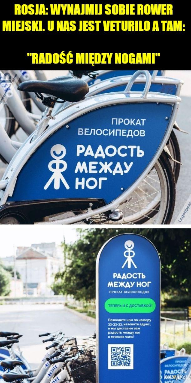 Wynajem rowerów w Rosji taki jest na granicy przyzwoitości