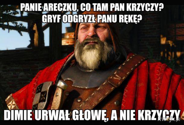 Panie Areczku, co tam pan krzyczy?