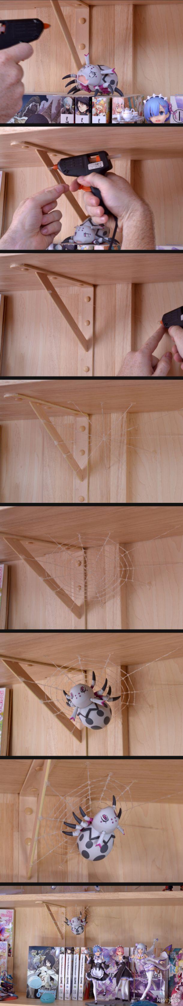 Miejsce dla pajączka z glutownicą