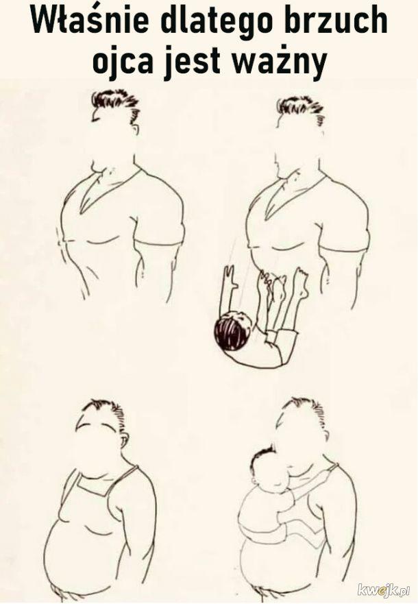 Brzuch ojca