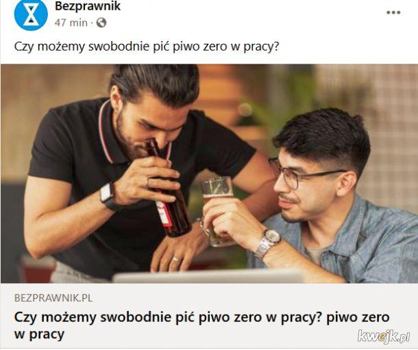 Piwo zero w pracy