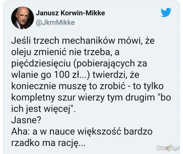 Janusz walczy ze spiskiem olejowym
