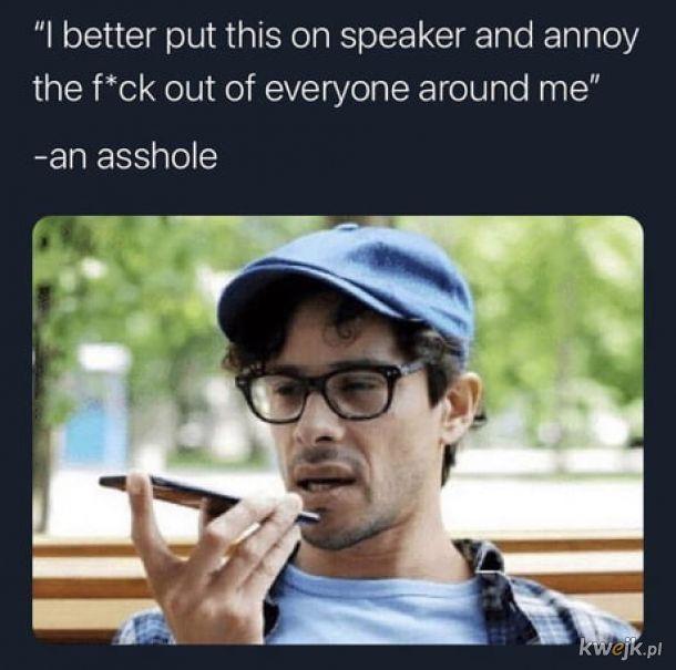 Rozmowy przez głośnik.
