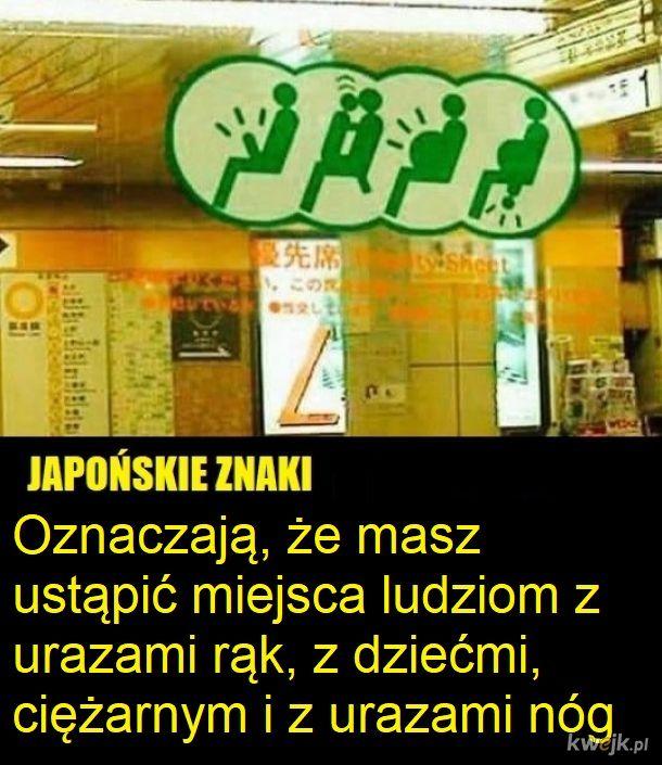 Oznakowanie w metrze czy gdzieś