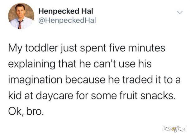 Nie może używać wyobraźni bo sprzedał za przekąski.