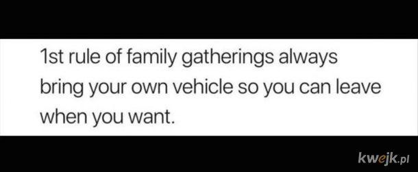 Zawsze własnym transportem.