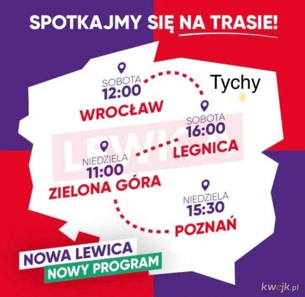 Mapa Polski według Lewicy