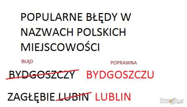 poprawne nazwy miejscowości