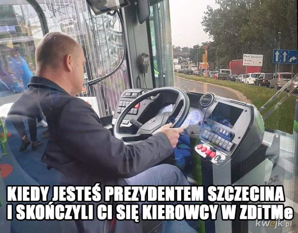 Nawet Prezydent Szczecina stoi w korku