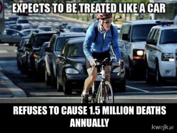 Ach ci cyklisci!